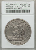 Trade Dollars, 1878-CC T$1 -- Damaged, Cleaned -- ANACS. AU Details, Net VF20....