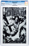Modern Age (1980-Present):Horror, Walking Dead #1 Wizard World Chicago Sketch Edition (Image, 2015)CGC NM/MT 9.8 White pages....