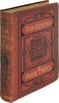 Books:Literature Pre-1900, Mark Twain. The Adventures of Tom Sawyer. London: Chatto andWindus, 1876. English edition, preceding the first ...