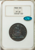 Proof Seated Half Dollars, 1868 50C PR64 NGC. CAC....