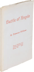 Books:Literature 1900-up, Tennessee Williams. Battle of Angels. Murray, Utah: 1945.First edition....