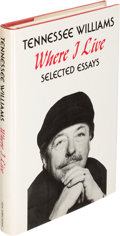 Books:Literature 1900-up, Tennessee Williams. Where I Live. [New York: 1978]. Firstedition, signed....