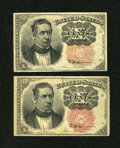 Fractional Currency:Fifth Issue, Fr. 1265 10c Fifth Issue Fine. Fr. 1266 10c Fifth Issue VF.. ...(Total: 2 notes)