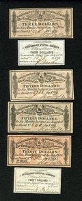 Confederate Notes:Group Lots, Confederate Bond Coupons.. ... (Total: 6 items)