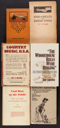 Books:Music & Sheet Music, [Larry McMurtry]. Group of Approximately 50 Cowboy, Folk, Westernor Country Music Books. [Various: circa 1940s and later]. ...