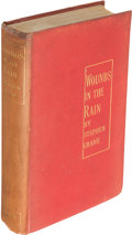 Books:Literature Pre-1900, Stephen Crane. Wounds in the Rain. London: 1900. Firstedition.. ...