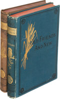 Books:Literature Pre-1900, Sarah O. Jewett. Pair of Osgood Books. Boston: [1877-1879]. First editions, one with a signed card by Jewett tipped in.... (Total: 2 Items)