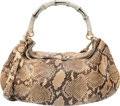 """Luxury Accessories:Bags, Gucci Natural Python Peggy Bag. Very Good to ExcellentCondition. 20"""" Width x 13"""" Height x 6"""" Depth. ..."""