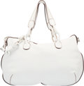 "Luxury Accessories:Bags, Loewe White Leather Duffle Bag. Excellent Condition. 20""Width x 12"" Height x 6"" Depth. ..."