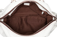 Loewe White Leather Duffle Bag. Excellent Condition. 20