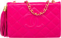 "Luxury Accessories:Bags, Chanel Pink Quilted Lambskin Leather Shoulder Bag with GoldHardware. Very Good Condition. 7.5"" Width x 5.5"" Height x..."