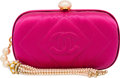 "Luxury Accessories:Bags, Chanel Pink Satin Clutch Bag with Pearl Tassel. Very Good toExcellent Condition. 6.5"" Width x 3.75"" Height x 2""Depth..."