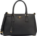 "Luxury Accessories:Bags, Prada Nero Black Saffiano Leather Lux Tote Bag. ExcellentCondition. 12"" Width x 8"" Height x 5"" Depth. ..."