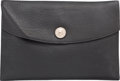 "Luxury Accessories:Accessories, Hermes Black Togo Leather Rio Clutch Bag with Palladium Hardware.C Square, 1999. Very Good Condition. 9.5"" Width x 6.5"" H..."