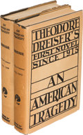 Books:Literature 1900-up, Theodore Dreiser. An American Tragedy. New York:1925. First edition.... (Total: 2 Items)