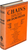 Books:Literature 1900-up, Theodore Dreiser. Chains. New York: 1927. First edition,signed by the author....