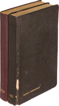 Books:Literature 1900-up, [Ernest Hemingway]. Pair of Hemingway's Daybooks. [New York]:1937-1938.... (Total: 2 Items)