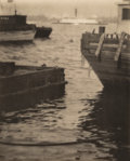 Photographs:Gelatin Silver, Karl Struss (American, 1886-1981). On the East River, New York, circa 1900. Photogravure. 7-3/4 x 6-1/4 inches (19.8 x 1...