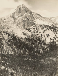 Ansel Adams (American, 1902-1984) Mount Clarence King, Southern Sierra, from the portfolio Parmelian