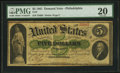 Large Size:Demand Notes, Fr. 2 $5 1861 Demand Note PMG Very Fine 20.. ...