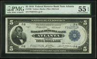 Fr. 790 $5 1918 Federal Reserve Bank Note PMG About Uncirculated 55 EPQ