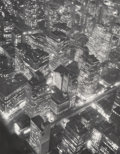 Photographs, Berenice Abbott (American, 1898-1991). New York at Night, circa 1932. Gelatin silver, printed later. 13-3/4 x 10-3/4 inc...