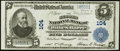 National Bank Notes:Pennsylvania, Wilkes-Barre, PA - $5 1902 Plain Back Fr. 598 The Second NB Ch. #104. ...