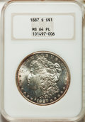 Morgan Dollars, 1887-S/S $1 VAM-2A MS64 Prooflike NGC....