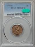 1926-S 1C MS64 Red and Brown PCGS. CAC....(PCGS# 2574)