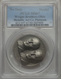 20th Century Tokens and Medals, (1962) Wright Brothers / Ohio State Seal Medal, Platinum, MS67PCGS....