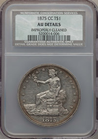 1875-CC T$1 -- Improperly Cleaned -- NCS. AU Details. NGC Census: (9/244). PCGS Population (38/338). Mintage: 1,573,700...