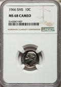SMS Roosevelt Dimes, 1966 10C SMS MS68 Cameo NGC. NGC Census: (69/9). PCGS Population (38/0). ...