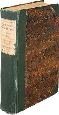 Walt Whitman. Complete Poems & Prose of Walt Whitman 1855...1888. [Camden: privately printed, 1