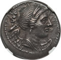 Ancients:Greek, Ancients: BRUTTIUM. The Brettii. Ca. 216-214 BC, AR drachm (4.57 gm)....