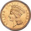 Three Dollar Gold Pieces, 1854-O $3 AU55 NGC. Variety 1....