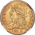 Early Half Eagles, 1812 $5 BD-1, R.3 -- Obverse Damage -- NGC Details. AU....