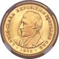 Commemorative Gold, 1905 G$1 Lewis and Clark Gold Dollar MS65 NGC....