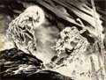 Original Comic Art:Covers, Bernie Wrightson DC Special Series #14 Swamp ThingWrap-Around Cover Original Art (DC, 1978)....
