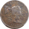1794 1C Head of 1793, Edge of 1793, S-18a, B-2a, Low R.6, Fine 12 Bland; Fine 12 Noyes; VF20 PCGS Secure. ...(PCGS# 3551...