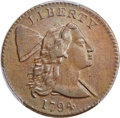 Large Cents, 1794 1C Head of 1794, S-22, B-6, R.1, VF35 Bland; AU50 PCGS Secure. ...