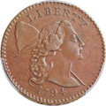 Large Cents, 1794 1C Head of 1794, S-24, B-8, R.1, XF40 Bland; AU53 PCGS Secure. ...