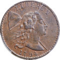 Large Cents, 1794 1C Head of 1794, S-25, B-15, R.3, XF40 Bland, VF35 Noyes; AU50 PCGS Secure. ...