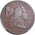 1794 1C Head of 1794, S-27, B-9, R.5, VF20 Bland, VF20 Noyes; VF Details -- Scratch -- PCGS Genuine Secure. ...(PCGS# 35...