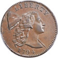 Large Cents, 1794 1C Head of 1794, S-29, B-11, R.2, XF40 Bland, XF40 Noyes; AU55 PCGS Secure. ...