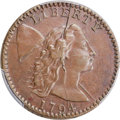 Large Cents, 1794 1C Head of 1794, S-35, B-21, R.5, VF35 Bland, VF30 Noyes; AU50 PCGS Secure. ...