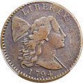 Large Cents, 1794 1C Head of 1794, S-37, B-24, High R.6, Fine 15 Bland, Fine 15 Noyes; VF20 PCGS Secure. ...