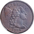 Large Cents, 1794 1C Head of 1794, S-45, B-35, High R.5, VF25 Bland; VF Details - Tooled -- Genuine PCGS Secure. ...