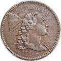 Large Cents, 1794 1C Head of 1794, S-46, B-36, R.3, XF45 Bland, XF40 Noyes; AU53 PCGS Secure. ...