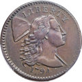 Large Cents, 1794 1C Head of 1794, S-64, B-50, Low R.5, VF30 Bland, VF25 Noyes; VF35 PCGS Secure. ...