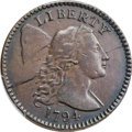 Large Cents, 1794 1C Head of 1795, S-68, B-60, R.5, VF30 Bland, VF20 Noyes; VF Details - Tooled -- Genuine PCGS Secure. ...